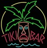 Tiki Bar Idol Sign � Guaranteed bright and brilliant neon bar signs! Our neon bar signs feature quality ½ diameter neon glass tubing and whisper quiet UL listed neon bar sign transformer. Full 1-5 year no hassle warranty.