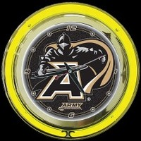 "Army 14"" Double Neon  – Guaranteed bright and brilliant neon color! Quality neon clocks and neon wall clocks for less. Full 1-5 year no hassle warranty."