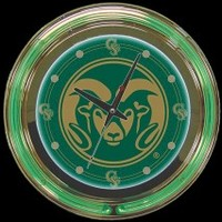 "Colorado State 14"" Neon Clock – Guaranteed bright and brilliant neon color! Quality neon clocks and neon wall clocks for less. Full 1-5 year no hassle warranty."