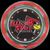"Illinois State 14"" – Guaranteed bright and brilliant neon color! Quality neon clocks and neon wall clocks for less. Full 1-5 year no hassle warranty."