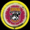 "Loyola 14"" – Guaranteed bright and brilliant neon color! Quality neon clocks and neon wall clocks for less. Full 1-5 year no hassle warranty."