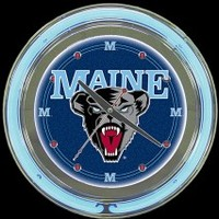 "Maine 14"" Double Neon Clock – Guaranteed bright and brilliant neon color! Quality neon clocks and neon wall clocks for less. Full 1-5 year no hassle warranty."