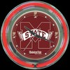 "Mississippi State 14"" – Guaranteed bright and brilliant neon color! Quality neon clocks and neon wall clocks for less. Full 1-5 year no hassle warranty."