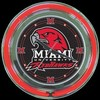 "Miami U. 14"" – Guaranteed bright and brilliant neon color! Quality neon clocks and neon wall clocks for less. Full 1-5 year no hassle warranty."