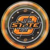 "Oklahoma State 14"" – Guaranteed bright and brilliant neon color! Quality neon clocks and neon wall clocks for less. Full 1-5 year no hassle warranty."