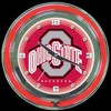 "Ohio State 14"" – Guaranteed bright and brilliant neon color! Quality neon clocks and neon wall clocks for less. Full 1-5 year no hassle warranty."