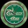 "UNC Charlotte 14"" – Guaranteed bright and brilliant neon color! Quality neon clocks and neon wall clocks for less. Full 1-5 year no hassle warranty."