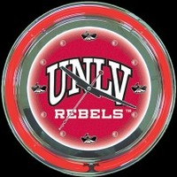 "UNLV Rebels 14"" Neon Clock – Guaranteed bright and brilliant neon color! Quality neon clocks and neon wall clocks for less. Full 1-5 year no hassle warranty."
