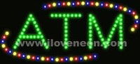 LED MOTION Animated ATM Sign - Best prices and lighted open sign selection from iLoveNeon.com