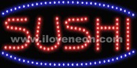 LED MOTION Animated Sushi Sign - Best prices and lighted open sign selection from iLoveNeon.com