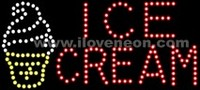 LED MOTION Animated Ice Cream Sign - Best prices and lighted open sign selection from iLoveNeon.com