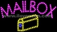 LED MOTION Animated Mailbox Sign - Best prices and lighted open sign selection from iLoveNeon.com