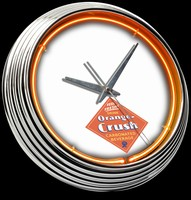 "Orange Crush Neon Clock 15"" – Guaranteed bright and brilliant neon color! Quality neon clocks and neon wall clocks for less. Full 1-5 year no hassle warranty."