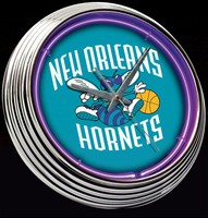 "New Orleans Hornets Neon Clock 15"" – Guaranteed bright and brilliant neon color! Quality neon clocks and neon wall clocks for less. Full 1-5 year no hassle warranty."