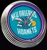 "N.O. Hornets 15"" – Guaranteed bright and brilliant neon color! Quality neon clocks and neon wall clocks for less. Full 1-5 year no hassle warranty."