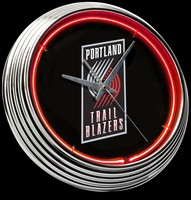 "Portland Trailblazer Neon Clock 15"" – Guaranteed bright and brilliant neon color! Quality neon clocks and neon wall clocks for less. Full 1-5 year no hassle warranty."