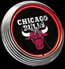 "Chicago Bulls 15"" – Guaranteed bright and brilliant neon color! Quality neon clocks and neon wall clocks for less. Full 1-5 year no hassle warranty."