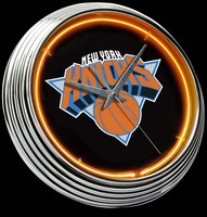 "New York Knicks Neon Clock 15"" – Guaranteed bright and brilliant neon color! Quality neon clocks and neon wall clocks for less. Full 1-5 year no hassle warranty."