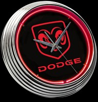 "Dodge Ram Neon Clock 15"" – Guaranteed bright and brilliant neon color! Quality neon clocks and neon wall clocks for less. Full 1-5 year no hassle warranty."