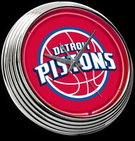"Detroit Pistons Red Neon Clock 15"" – Guaranteed bright and brilliant neon color! Quality neon clocks and neon wall clocks for less. Full 1-5 year no hassle warranty."