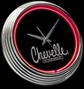 "Chevy Chevelle 15"" – Guaranteed bright and brilliant neon color! Quality Americana neon wall clocks for less. Full 1-5 year no hassle warranty."