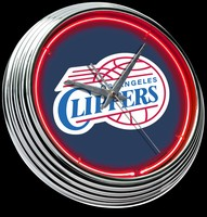 "Los Angeles Clippers Neon Clock 15"" – Guaranteed bright and brilliant neon color! Quality neon clocks and neon wall clocks for less. Full 1-5 year no hassle warranty."