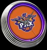 "Phoenix Suns 15"" – Guaranteed bright and brilliant neon color! Quality neon clocks and neon wall clocks for less. Full 1-5 year no hassle warranty."