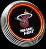 "Miami Heat 15"" – Guaranteed bright and brilliant neon color! Quality neon clocks and neon wall clocks for less. Full 1-5 year no hassle warranty."