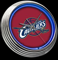 "Cleveland Cavaliers Neon Clock 15"" – Guaranteed bright and brilliant neon color! Quality neon clocks and neon wall clocks for less. Full 1-5 year no hassle warranty."