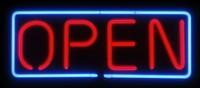 "NEON Open Rectangular XLG 36"" Sign"