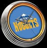 "Denver Nuggets 15"" – Guaranteed bright and brilliant neon color! Quality neon clocks and neon wall clocks for less. Full 1-5 year no hassle warranty."