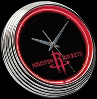 "Houston Rockets Neon Clock 15"" – Guaranteed bright and brilliant neon color! Quality neon clocks and neon wall clocks for less. Full 1-5 year no hassle warranty."