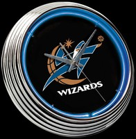 "Washington Wizards Neon Clock 15"" – Guaranteed bright and brilliant neon color! Quality neon clocks and neon wall clocks for less. Full 1-5 year no hassle warranty."