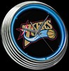 "Philadelphia 76ers 15"" – Guaranteed bright and brilliant neon color! Quality neon clocks and neon wall clocks for less. Full 1-5 year no hassle warranty."