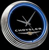 "Chrysler Logo 15"" – Guaranteed bright and brilliant neon color! Quality Americana neon wall clocks for less. Full 1-5 year no hassle warranty."