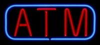 ATM Neon Sign With Border
