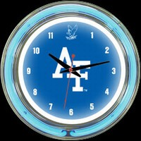 "Air Force 14"" DOUBLE Neon Clock – Guaranteed bright and brilliant neon color! Quality neon clocks and neon wall clocks for less. Full 1-5 year no hassle warranty."