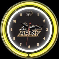 "Army 14"" DOUBLE Neon Clock – Guaranteed bright and brilliant neon color! Quality neon clocks and neon wall clocks for less. Full 1-5 year no hassle warranty."