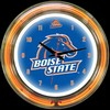"Boise State DBL 14"" – Guaranteed bright and brilliant neon color! Quality neon clocks and neon wall clocks for less. Full 1-5 year no hassle warranty."