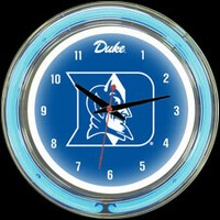 "Duke 14"" DOUBLE Neon Clock – Guaranteed bright and brilliant neon color! Quality neon clocks and neon wall clocks for less. Full 1-5 year no hassle warranty."
