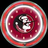 "Florida State DBL 14"" – Guaranteed bright and brilliant neon color! Quality neon clocks and neon wall clocks for less. Full 1-5 year no hassle warranty."