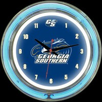 "GA Southern 14"" DOUBLE Neon Clock – Guaranteed bright and brilliant neon color! Quality neon clocks and neon wall clocks for less. Full 1-5 year no hassle warranty."