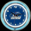 "GA Southern DBL 14"" – Guaranteed bright and brilliant neon color! Quality neon clocks and neon wall clocks for less. Full 1-5 year no hassle warranty."