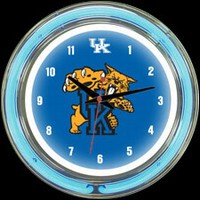 "Kentucky 14"" DOUBLE Neon Clock – Guaranteed bright and brilliant neon color! Quality neon clocks and neon wall clocks for less. Full 1-5 year no hassle warranty."