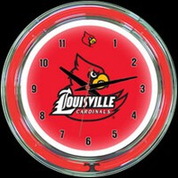 "Louisville 14"" DOUBLE Neon Clock – Guaranteed bright and brilliant neon color! Quality neon clocks and neon wall clocks for less. Full 1-5 year no hassle warranty."