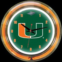 "Miami 14"" DOUBLE Neon Clock – Guaranteed bright and brilliant neon color! Quality neon clocks and neon wall clocks for less. Full 1-5 year no hassle warranty."