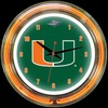 "Miami DBL 14"" – Guaranteed bright and brilliant neon color! Quality neon clocks and neon wall clocks for less. Full 1-5 year no hassle warranty."