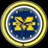 "Michigan DBL 14"" – Guaranteed bright and brilliant neon color! Quality neon clocks and neon wall clocks for less. Full 1-5 year no hassle warranty."