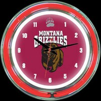 "Montana 14"" DOUBLE Neon Clock – Guaranteed bright and brilliant neon color! Quality neon clocks and neon wall clocks for less. Full 1-5 year no hassle warranty."