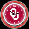 "Oklahoma DBL 14"" – Guaranteed bright and brilliant neon color! Quality neon clocks and neon wall clocks for less. Full 1-5 year no hassle warranty."